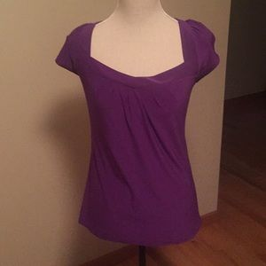 Purple lace backed top